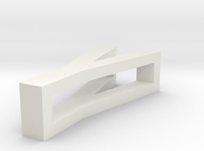 CHOKER SLIDE LETTER Y 1⅛, 1¼, 1½, 1¾, 2 inch sizes 3d printed