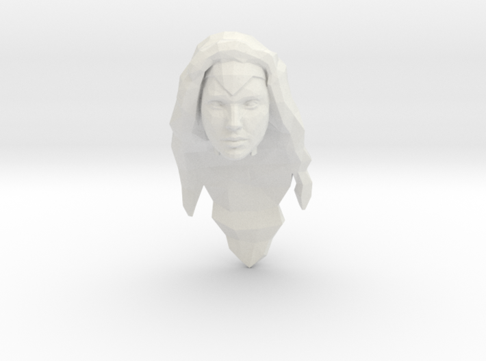 Wonder Woman Head 3d printed