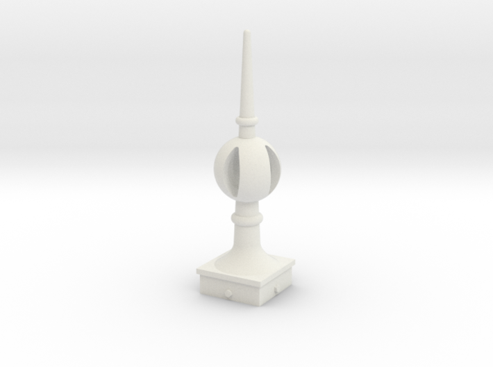 Signal Finial (Open Ball) 1:22.5 scale 3d printed
