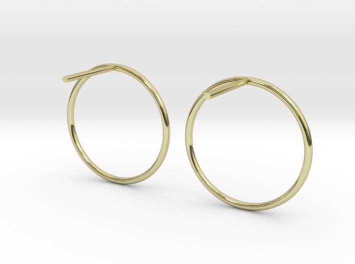 Billabong Circle Earrings 3d printed