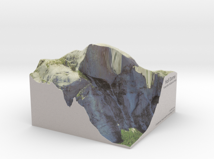 Yosemite - Half Dome Map: 8 inch 3d printed