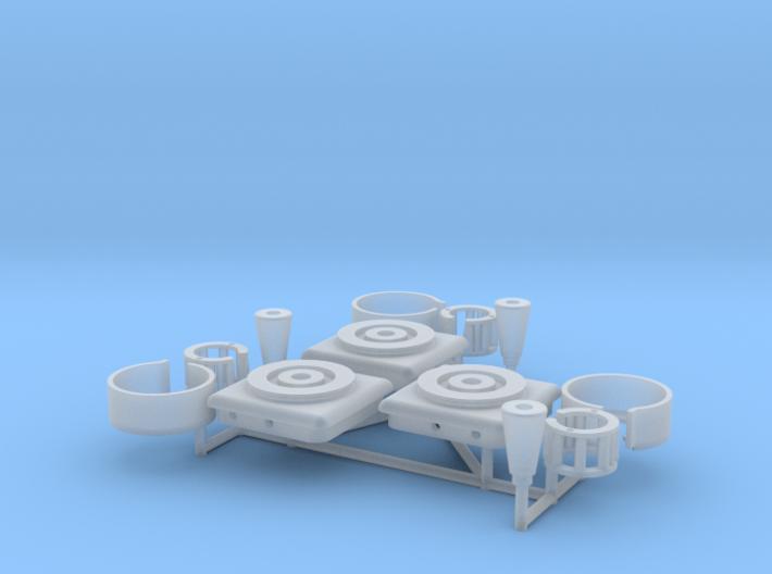 1:8 BTTF DeLorean Hockey Puck parts 3d printed Render of the 3D model