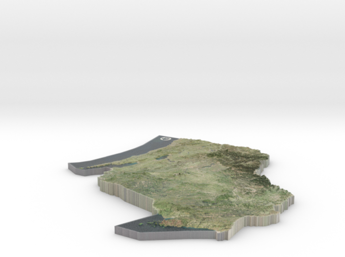 Wisconsin Relief Map 3d printed