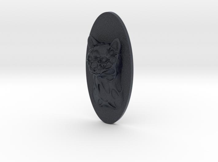 Cat Face + Half-Voronoi Mask (002) 3d printed