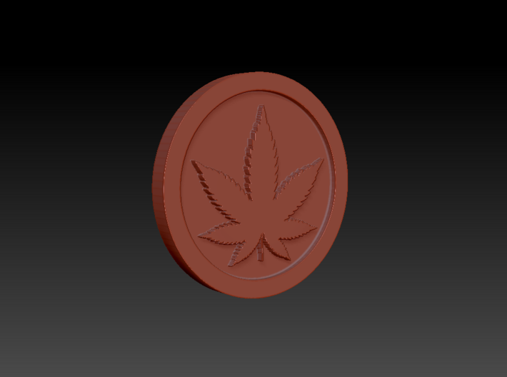 Weed/Marijuana Themed Coin/Token For Checkers, Pok 3d printed