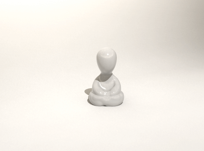 """Tiny Monk 3d printed """"And you're quite nice."""""""