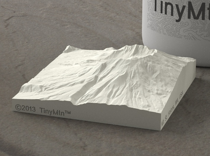 3'' Mt. St. Helens, Washington, USA, Sandstone 3d printed