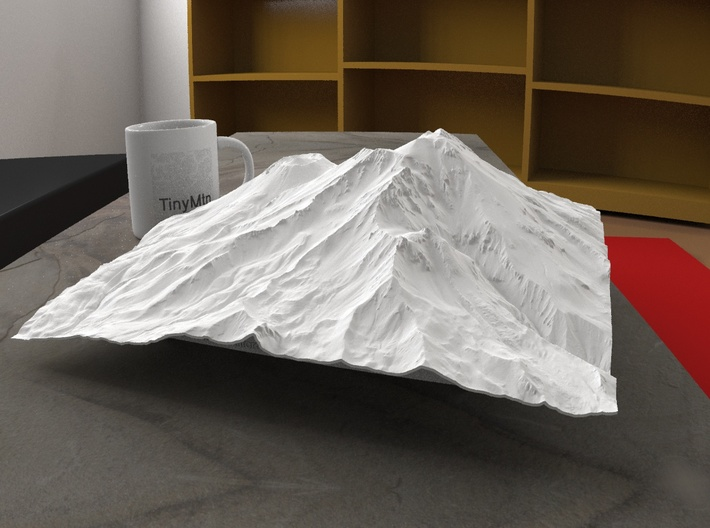 12'' Mt. Shasta, California, USA 3d printed