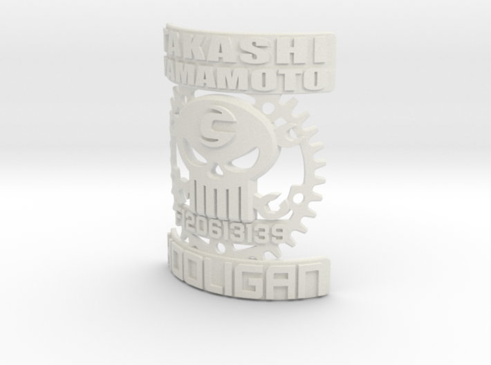 Cannondale Hooligan 2012+ Skull Headbadge 3d printed