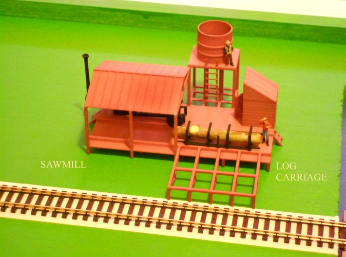 SAWMILL Log Carriage 3d printed Log Carriage for Sawmill