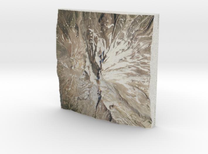 Mt. Shasta, California, USA, 1:50000 3d printed