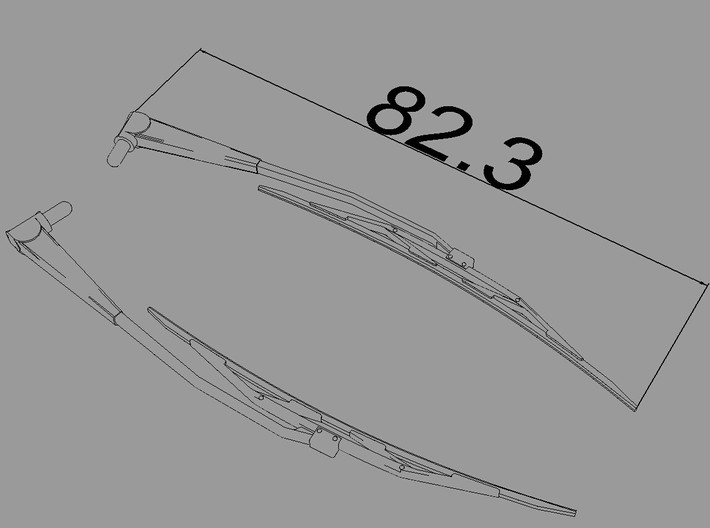 Scale Eurocopter AS350 Wiper 82.3mm 3d printed