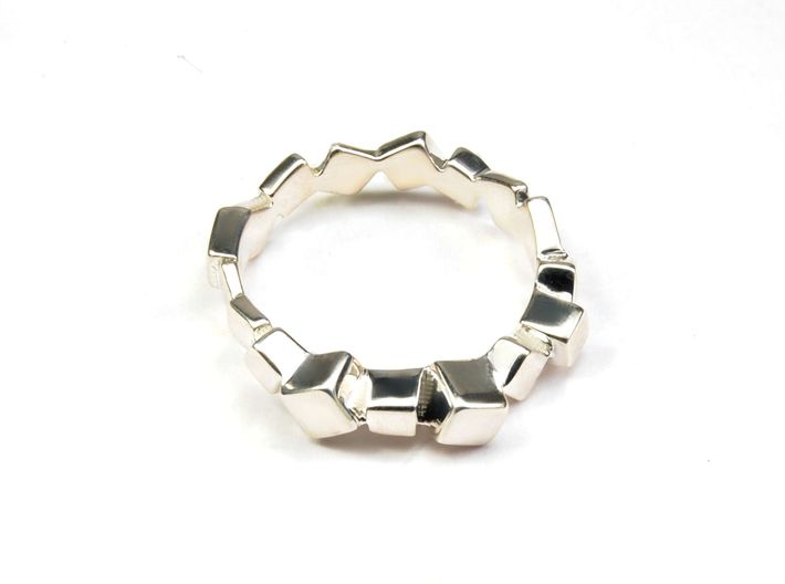 Ring Mary Double Prisms  3d printed Alina ring