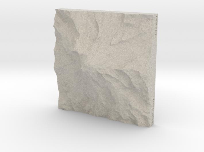 4'' Mt. Rainier, Washington, USA, Sandstone 3d printed