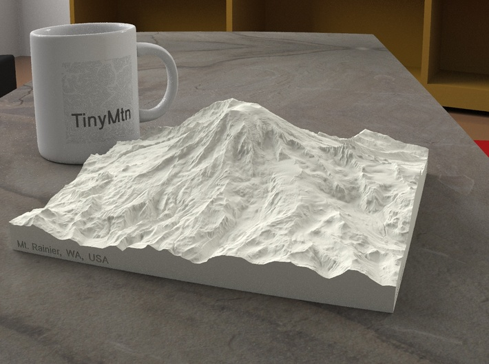 8'' Mt. Rainier, Washington, USA, Sandstone 3d printed