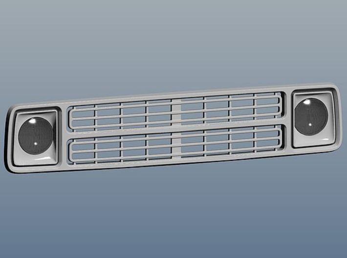 1/24 1980 Dodge Ramcharger Grill 3d printed rendering of the assembled grill
