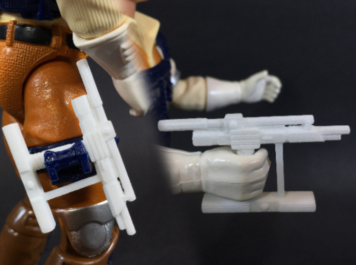 BraveStarr style hand laser for He-Man MOTUC 3d printed Unpainted - Works with Bravestarr