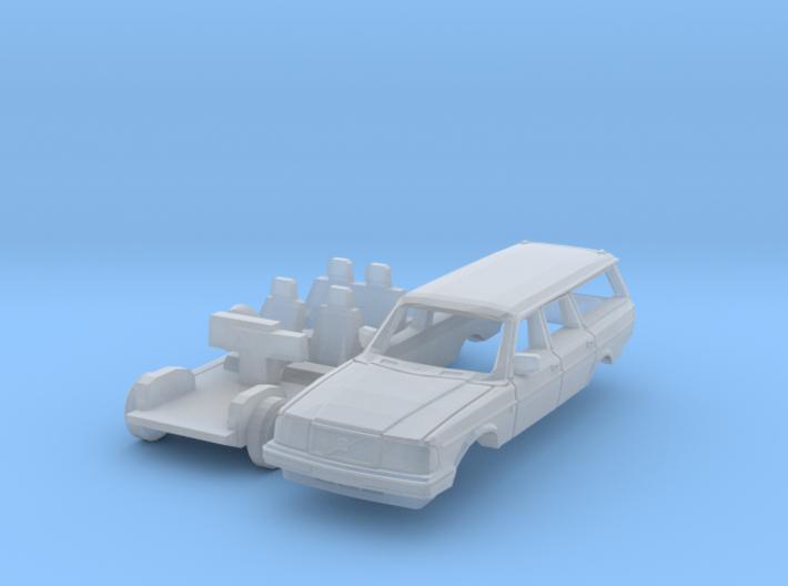 Volvo 240 Estate (British N 1:148) 3d printed