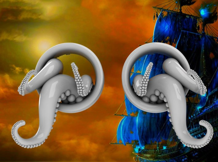 1 Inch TentacleTunnels 3d printed Available in multiple colors.