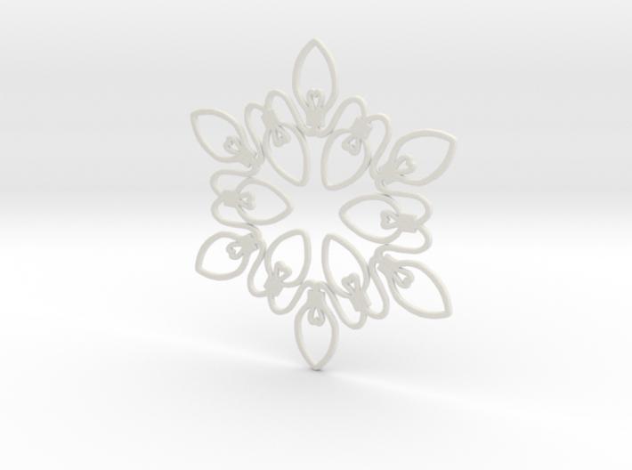 Christmas Lights Snowflake Ornament 3d printed