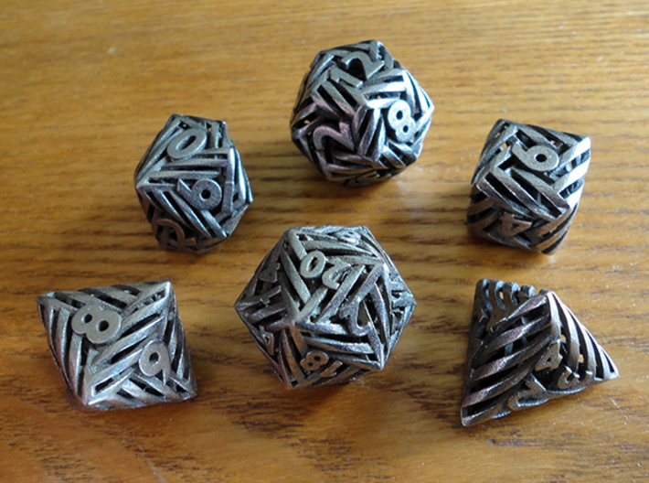 Helix Dice Set 3d printed