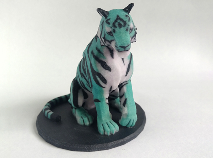 Tiger 3d printed front view of 3D print
