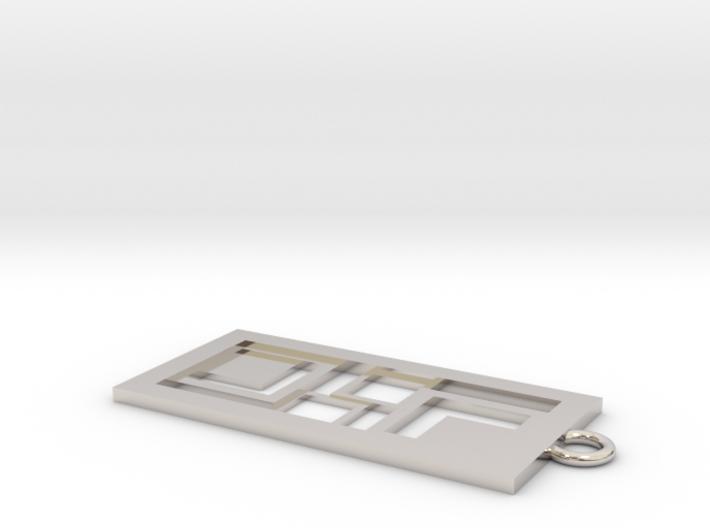Geometrical pendant no.3 3d printed