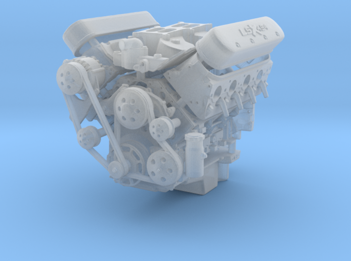 LSX/LS3 1/24 complete engine w/dual 4bbl intake 3d printed