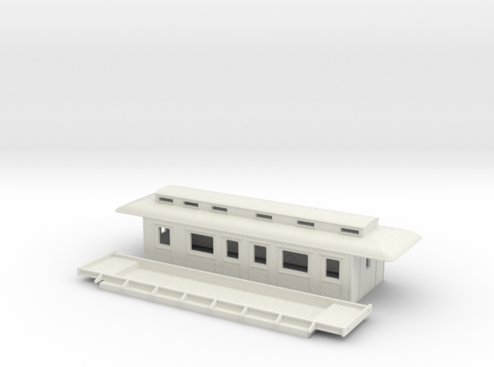 BC3 - Swedish passenger wagon 3d printed