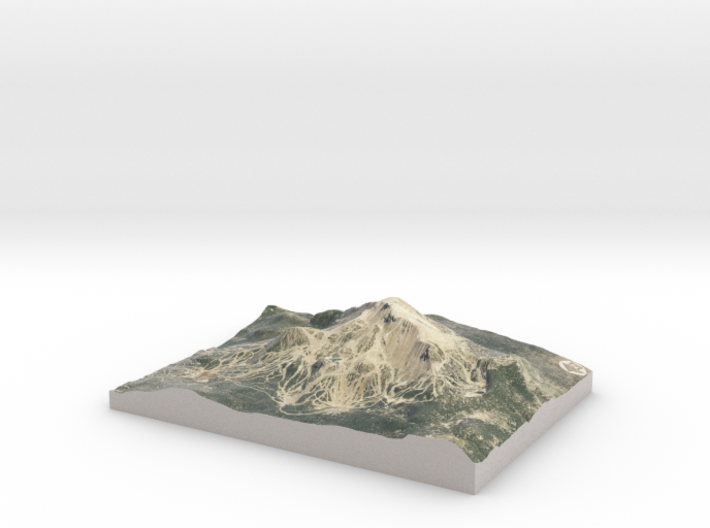 """Mammonth Mountain - Summer: 5""""x7"""" 3d printed"""