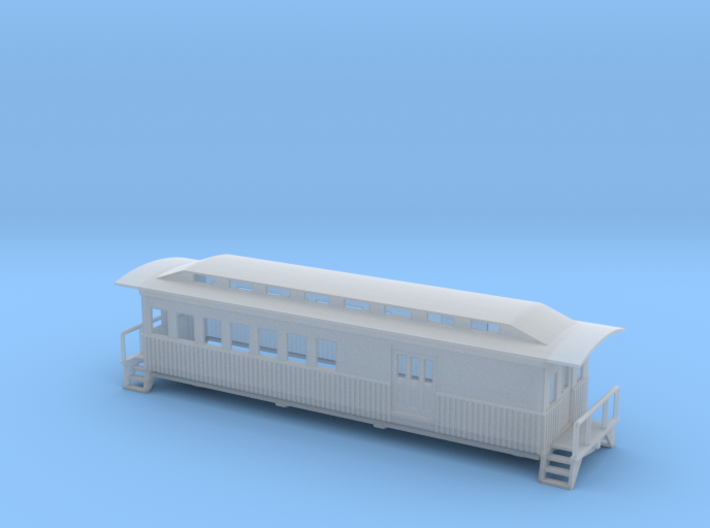 Overton Passenger Baggage Car - Zscale 3d printed