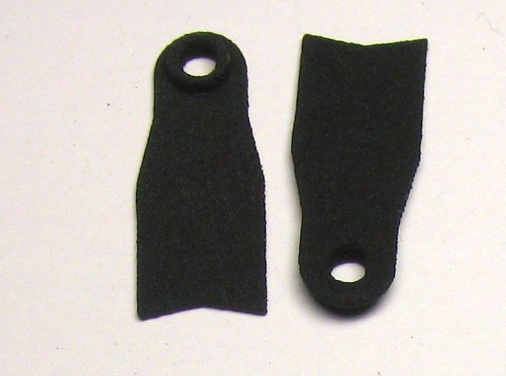 Minifig Apnoe Fins without blade angle 3d printed Black Strong & Flexible