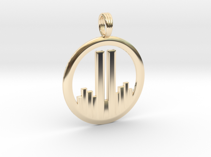 NEVER FORGET WTC 911 PENDANT 3d printed
