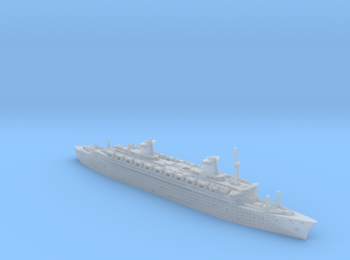 1:2400 SS France (1961)_Solid Model 3d printed