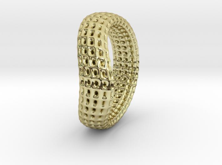 torus wireframe RING 03StackHoles 3d printed
