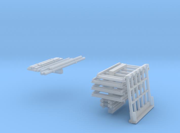SET Roof racks for vans (N 1:160) 3d printed
