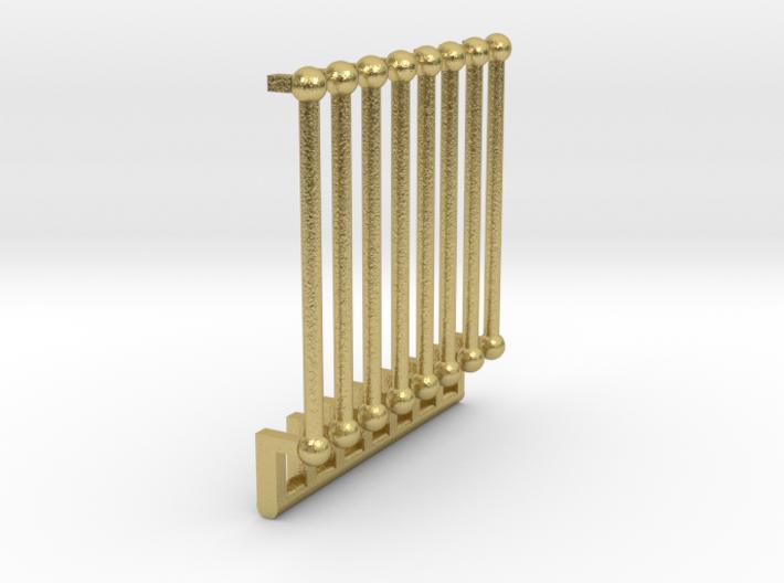 O Scale P & W Brill Bullet Door Grabs 3d printed