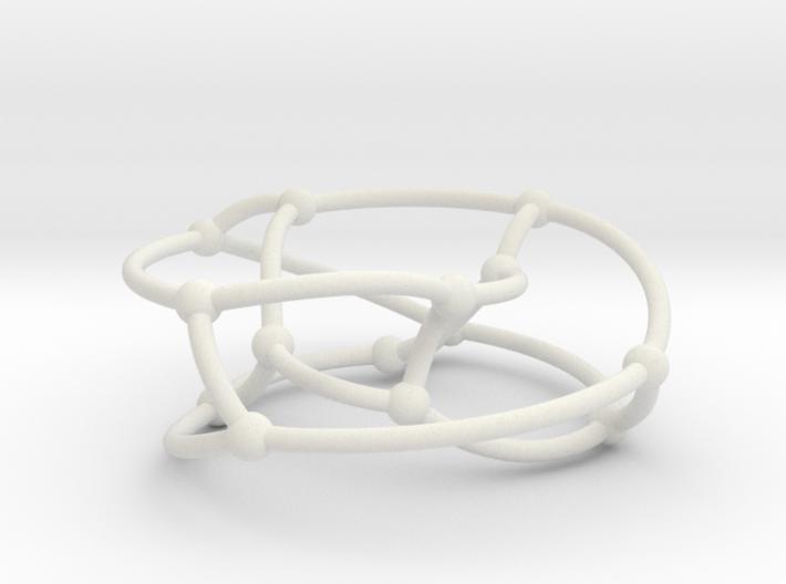 Heawood graph on torus 3d printed