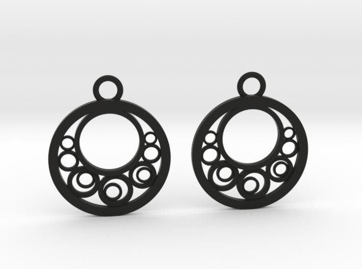 Geometrical earrings no.6 3d printed