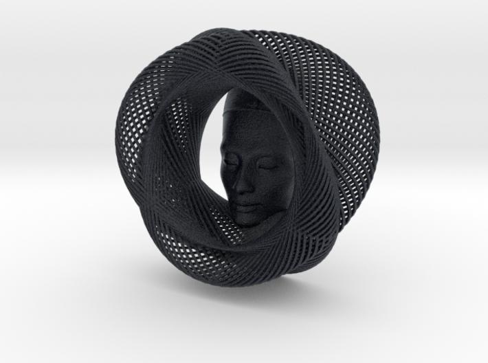 Wire Curve Art + Nefertiti (001a) 3d printed