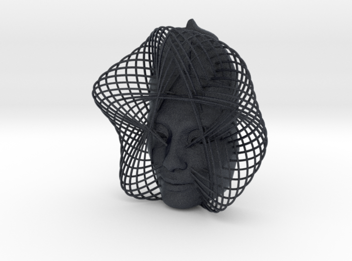 Wire Curve Art + Nefertiti (002c) 3d printed
