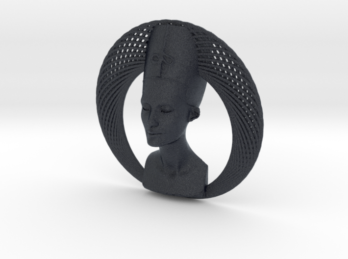 Wire Curve Art + Nefertiti (003a) 3d printed