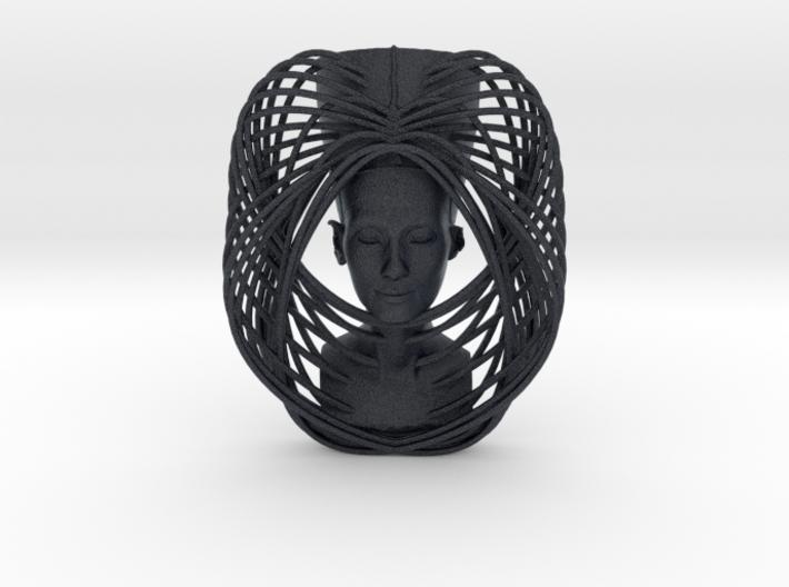 Wire Curve Art + Nefertiti (003c) 3d printed