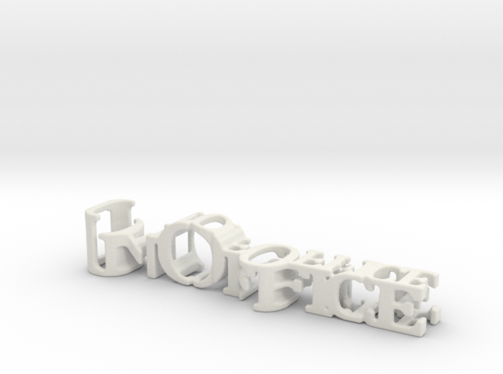 3dWordFlip: In Office/Out of Office 3d printed