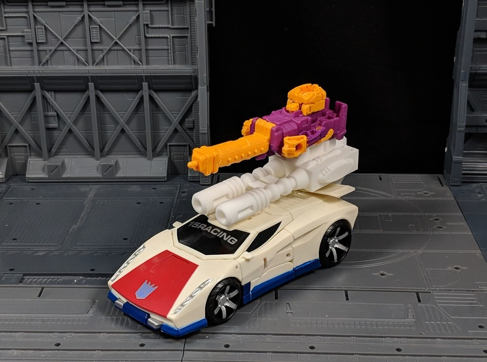 TF CW Breakdown Car Cannon Seige Compatible 3d printed Top port allows for Attaching Weapons