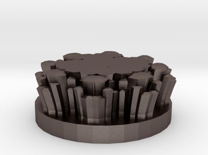 "Magic Crystal 1"" Circular Miniature Base Plate 3d printed"
