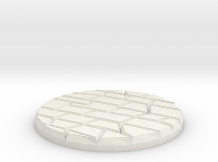 "Dungeon Floor 1"" Circular Miniature Base Plate 3d printed"