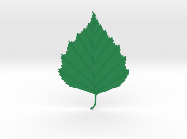 Birch tree leaf 3d printed