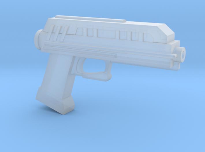 "DC-17 Blaster pistol for 6"" action figures 3d printed"