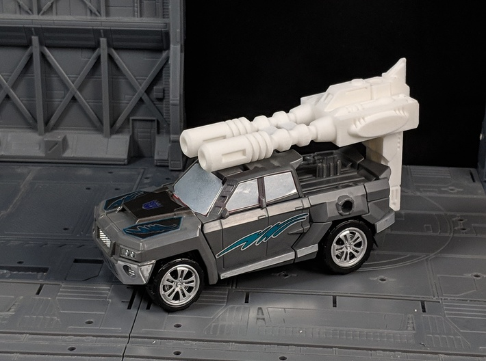 TF Combiner Wars Breakdown Car Cannon 3d printed